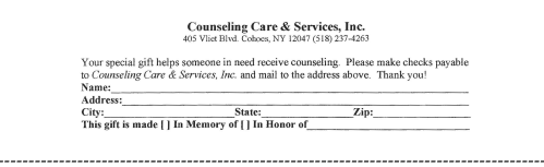 Counseling Care & Services 33 years