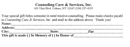Counseling Care & Services 32 years
